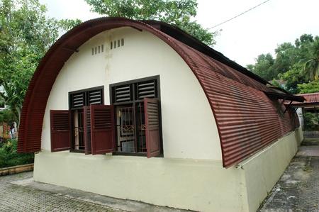 barracks: historic buildings, the Dutch army barracks in the second world war in Tarakan, Indonesia Editorial
