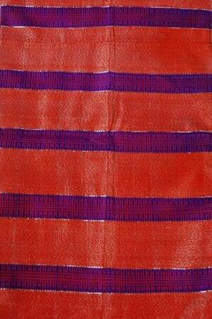 details woven silk sarong bugiss Indonesia isolated on white photo