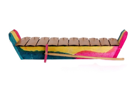 re do: Indonesian traditional music instrument toy isolated on white background