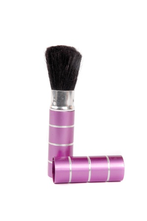 pallete: a brush for makeup isolated on white background