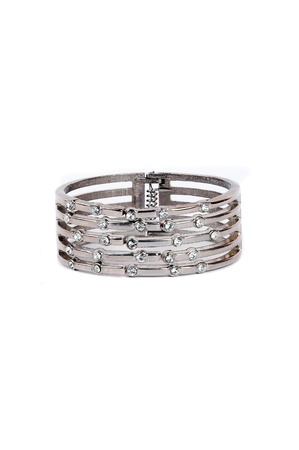 silver bracelet isolated on white background Stock Photo - 13299775