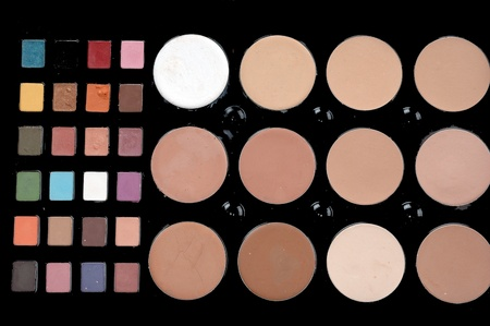 a set colorful of makeup pallet isolated on white background Stock Photo - 13299806