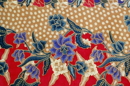 Indonesian fabric design details photo