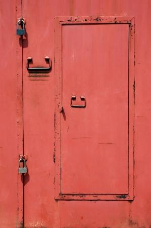 red iron door photo