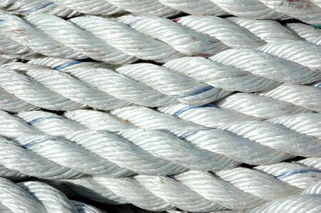 detail texture of white ropes Stock Photo - 13700988