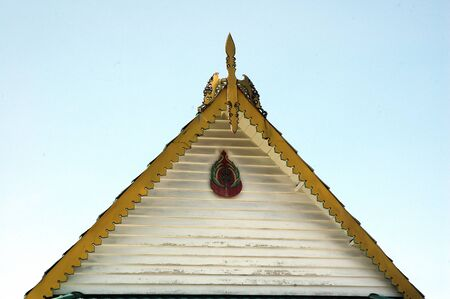 ornament on the roof  traditional house of Indonesia photo