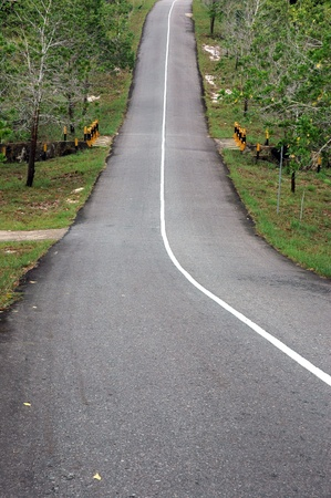 paved highway decline and uphill photo