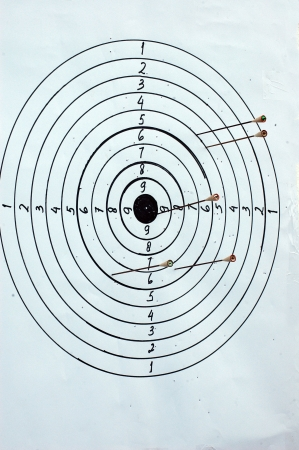 target board with multiple arrows Stock Photo - 14035944