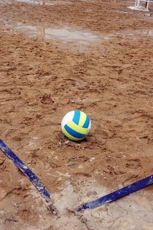 volleyball on the sand pitch angles photo