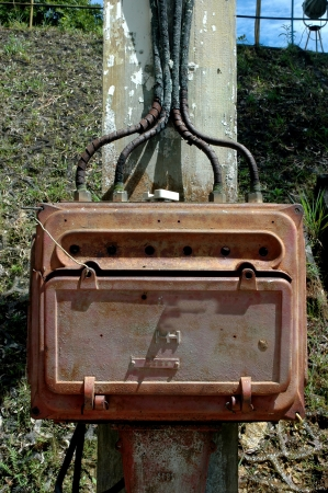 iron box electrical installation at the historic Dutch colonial heritage in the City of Tarakan, Indonesia photo