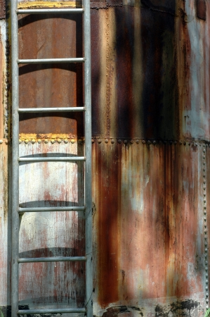 iron ladder on the metal cylinder Stock Photo - 14251071