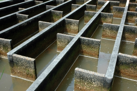 construction of drainage water filtration,built by the Dutch during the occupation in the city of Tarakan, Indonesia photo
