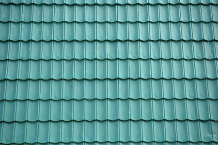 tile roof: new green tin roof background
