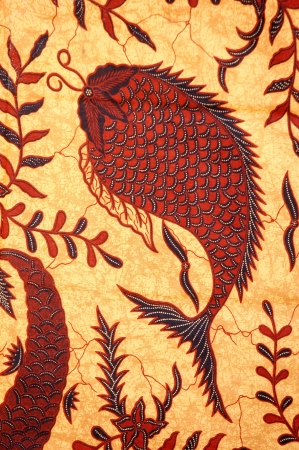 detailed patterns of Indonesia batik cloth photo