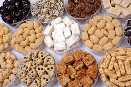 various types of pastries photo