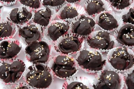 pattern of dry chocolate cake photo