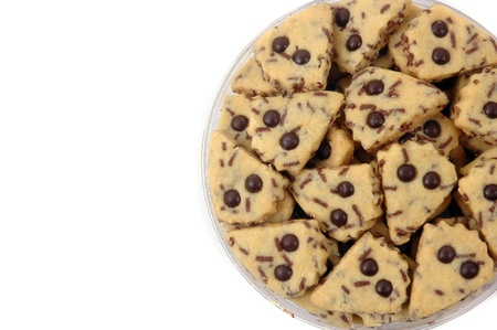 cookies with chocolate dots isolated on white background photo