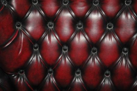 Textura y el patrón de color rojo oscuro tapizado asiento de cuero Foto de archivo - 15988124