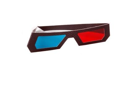 Pack de 10 gafas 3D anagl/íficas de cart/ón blanco con lentes de color rojo//azul