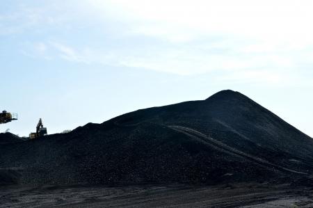 coal dunes at coal mining Stock Photo