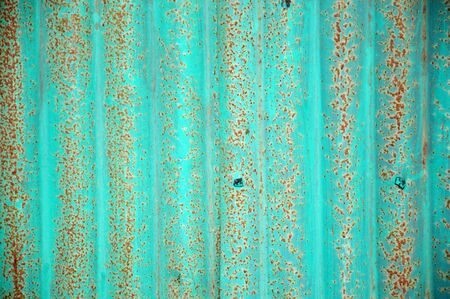 old green zinc wall