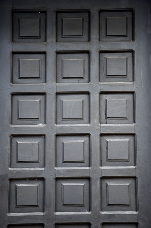 new black wooden doors at a building Stock Photo - 20944415