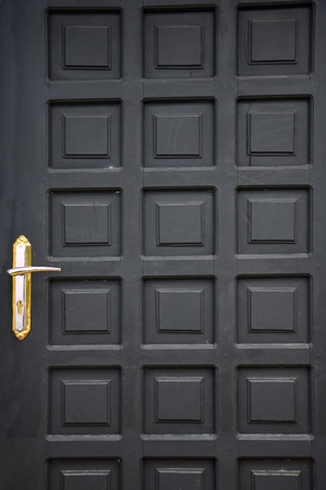 new black wooden doors at a building Stock Photo - 20944431