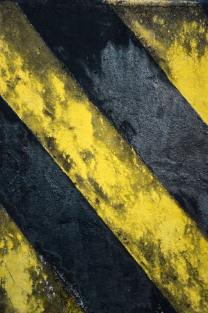 old black and yellow strips on the wall photo
