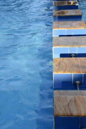 blue swimming pool photo