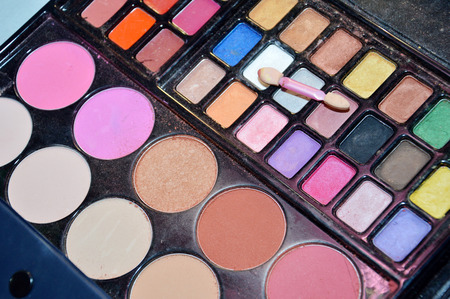 colorful cosmetic pallets kit photo