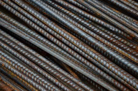 detailed texture and pattern of iron rods background photo