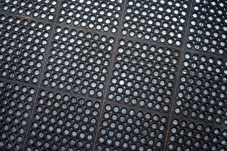 pattern of black rubber mat Stock Photo