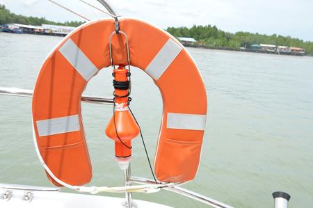 lifebuoy on a yacht photo
