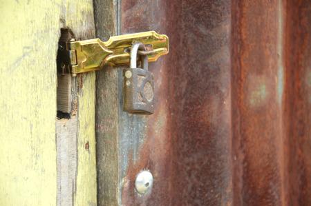 the door with padlock photo