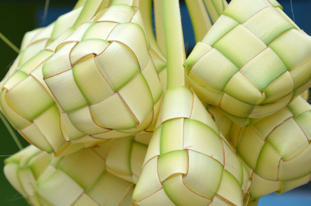 new leaf woven ketupat