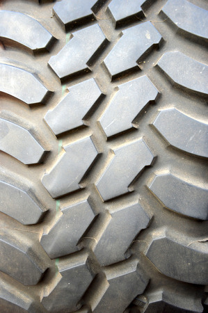 detaile texture and patterns on big tires photo
