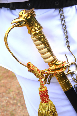 Indonesians naval military officer sword  photo