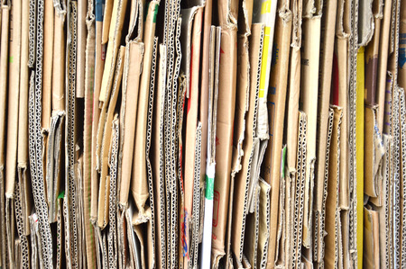 pile of old cardboard boxes for recycling