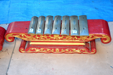 gamelan is a traditional musical instrument of Indonesia 写真素材