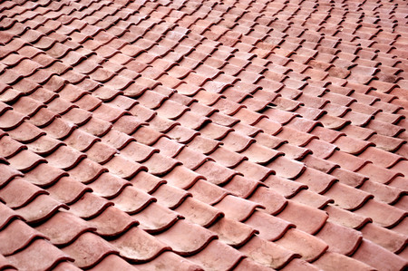 Beautiful Tin Roof: Pattern And Texture Of Roof Tiles