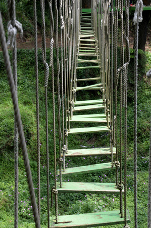 outbound: hanging bridge on the outbound spacecraft