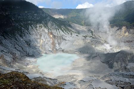 Tangkuban Perahu Mountain in Bandung, Indonesia