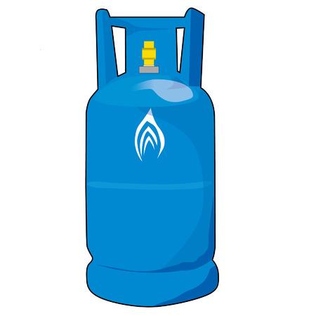 Blauen Gasflaschen Vektor isoliert auf weißem Hintergrund Standard-Bild - 30821877