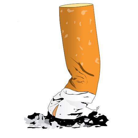 Colillas de cigarrillos en el fondo blanco Foto de archivo - 30821896