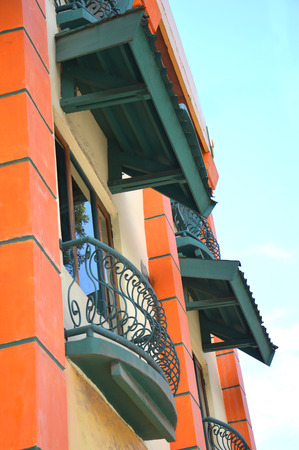 balcony on the building