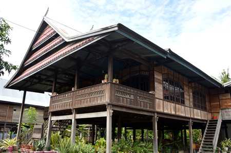 Bugis House, a traditional stilt houses with high pole in South Sulawesi Indonesia Editorial