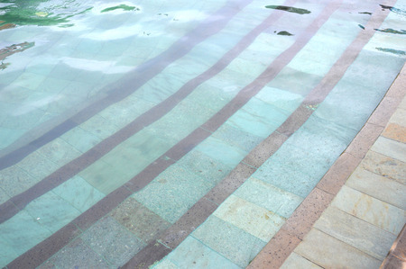 ceramic staircase in the pool photo