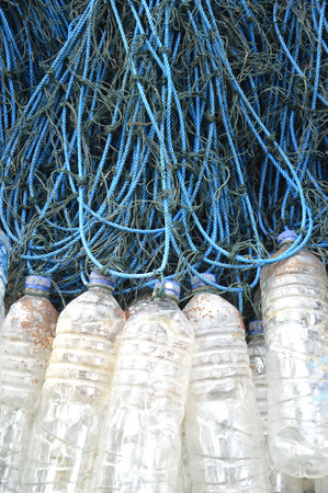 floater: fishing nets with used plastic bottle as floater