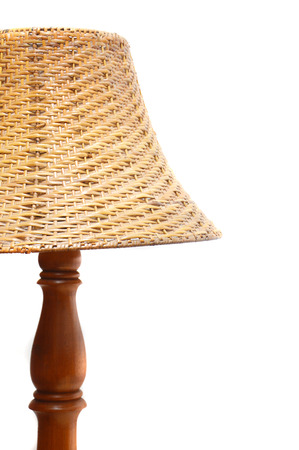 night lamp isolated on white background photo