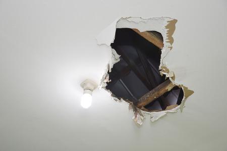 hole on the ceiling Foto de archivo